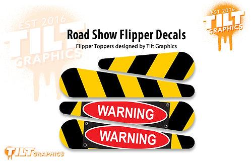 Road Show Flipper Decals: Warning