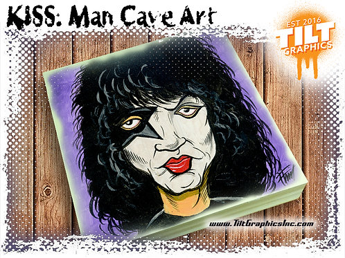 "KISS: Paul Stanley 8""x8"" Cave Art"