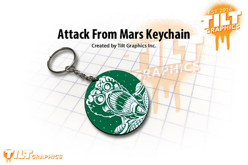 Attack From Mars Custom Keychain
