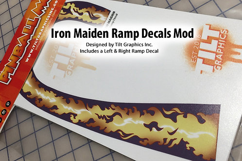 Iron Maiden Flames Ramp Decals: Large