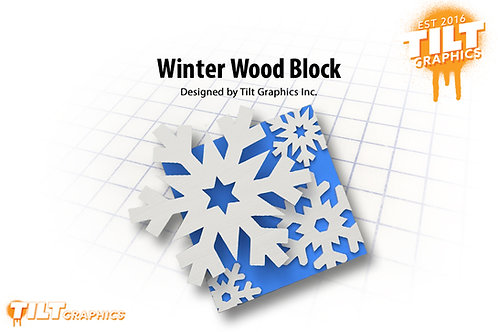 Winter Wood Block
