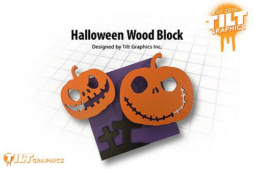 Halloween Wood Block