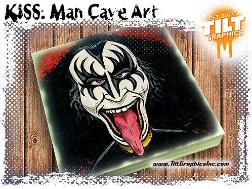 """KISS: Gene Simons 8""""x8"""" Cave Art"""