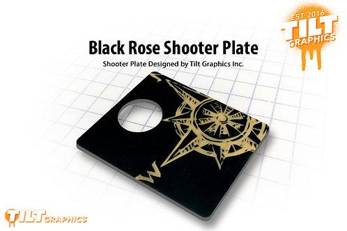 Black Rose Shooter Plate