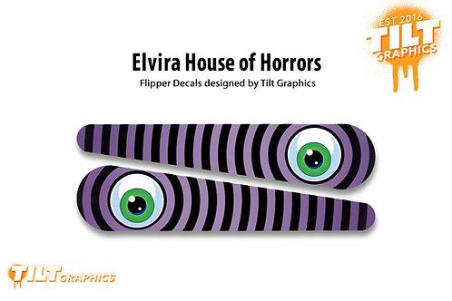 Elvira House of Horrors Flipper Bat Decals