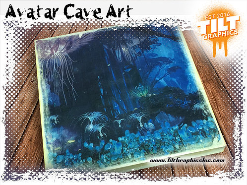 "Avatar Cave Art: 8""x8"""