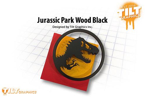 Jurassic Park Wood Block