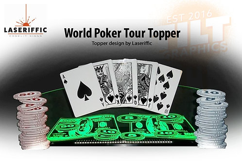 World Poker Tour Pinball Topper - Made in the USA