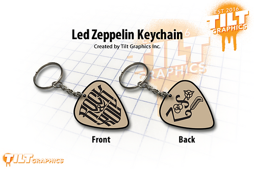 Led Zeppelin Inspired Keychain