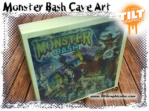 "Monster Bash Cave Art: 8""x8"""