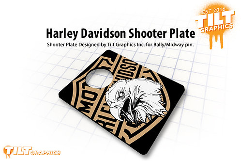 Harley Davidson Bally/Midway 3D Shooter Plate