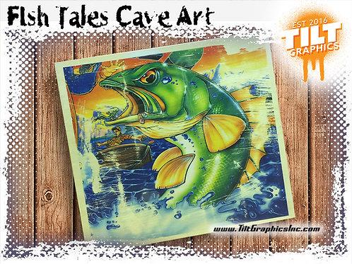 """Fish Tales Cave Art: 8""""x8"""""""