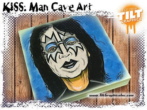 """KISS: Ace Frehley 8""""x8"""" Cave Art"""
