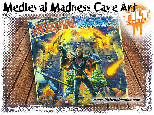 """Medieval Madness: 4""""x4"""" Cave Art"""