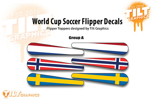 World Cup Soccer Flipper Decals: Group Stages