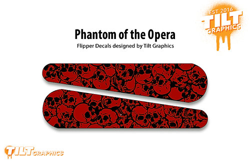 Phantom of the Opera Flipper Bat Decals