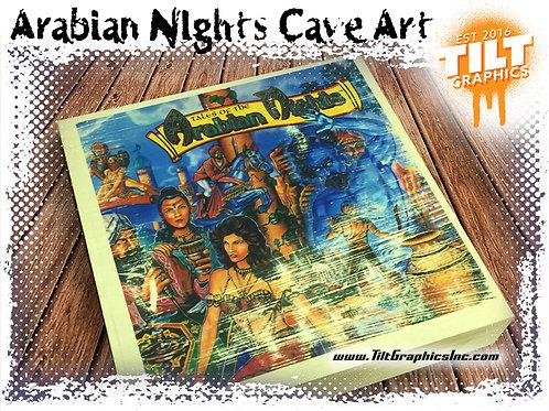 """Tales of the Arabian Nights Cave Art: 8""""x8"""""""