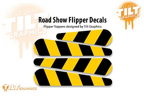 Road Show Flipper Decals: Hazard