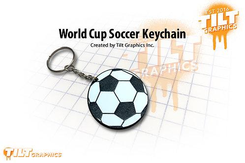 World Cup Soccer Custom Keychain