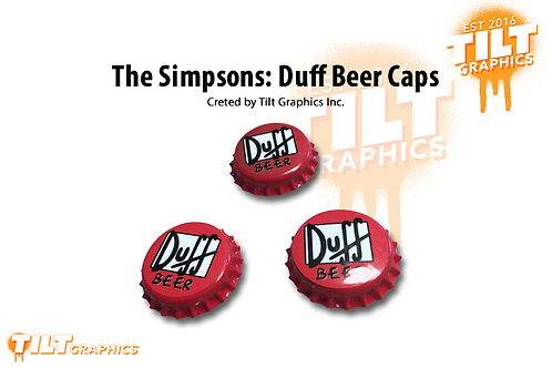 Simpsons Duff Beer Caps