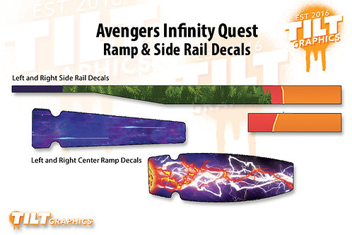 Avengers Infinity Quest Inspired Ramp & Side Rail Decal Bundle