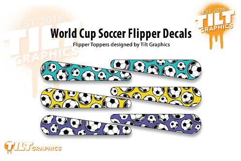 World Cup Soccer Flipper Decals: Peletons