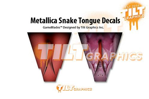 Metallica Snake Tongue Decals
