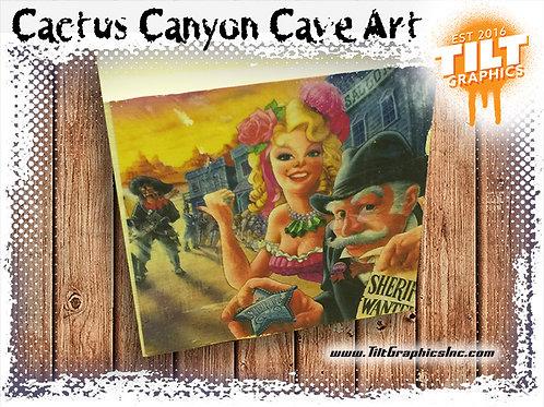 """Cactus Canyon Cave Art: 4""""x4"""""""