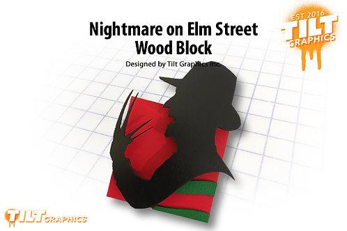 Freddy Nightmare on Elm Street Wood Block