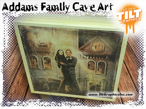 "Addams Family Cave Art: 8""x8"""