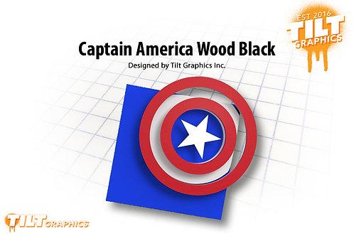 Captain America Wood Block