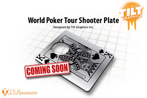 World Poker Tour Playing Card Shooter Plate
