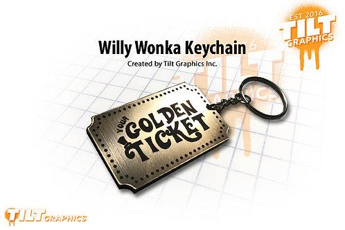 Willy Wonka Custom Keychain