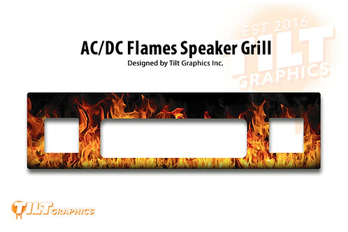 AC/DC Flames Speaker Grill Decal