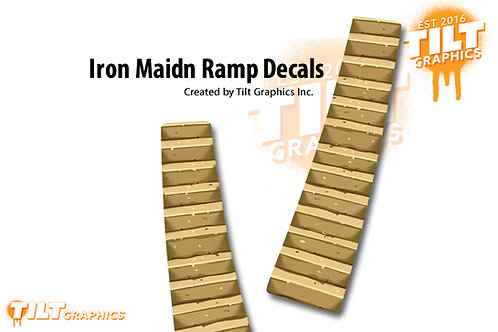 Iron Maiden Stone Steps Ramp Decals: Small