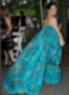 Warp Printed Silk Taffeta Gown by Steven Stolman for Scalamandre (photo by Bill Cunningham)