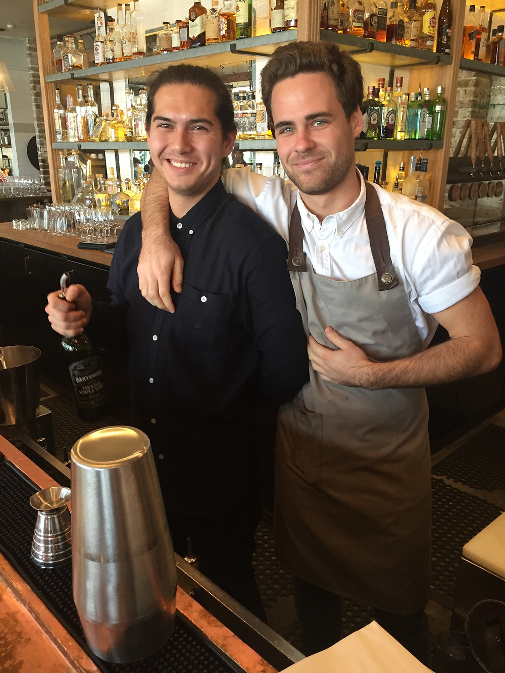 The handsome bartenders at Papi Chulo, Manly Beach