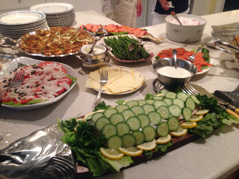 My mom's usual spread.
