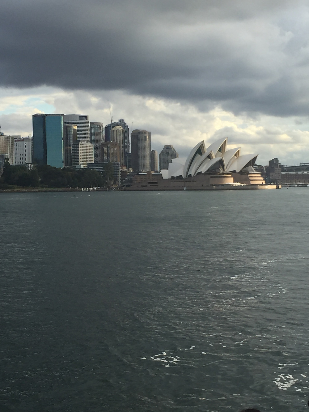The Sydney Opera House, as seen from the Manly Ferry