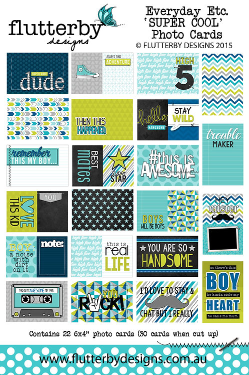 'SUPER COOL' Everyday Etc Cards