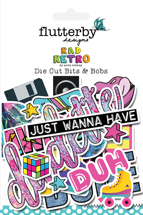 'Rad Retro' Die Cut Bits & Bobs
