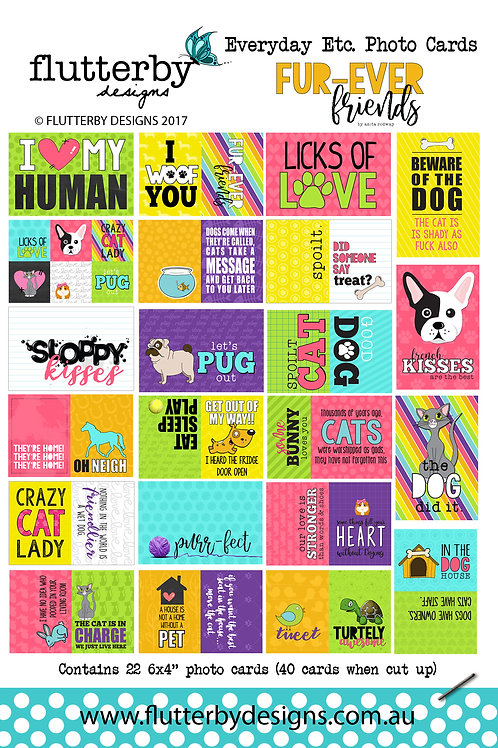 'FUR-EVER FRIENDS' Everyday Etc Cards