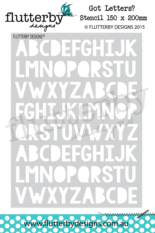 'Got Letters' Stencil 150 x 200mm