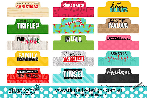 'Fair Dinkum Chrissy' - Page Tabs