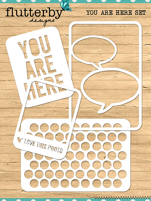 'YOU ARE HERE' Fussy Cuts