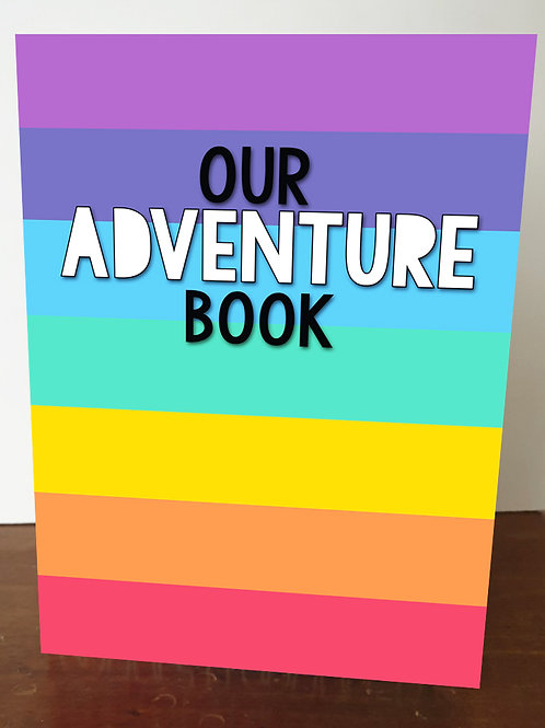 `Our Adventure Book' A5 Book Cover