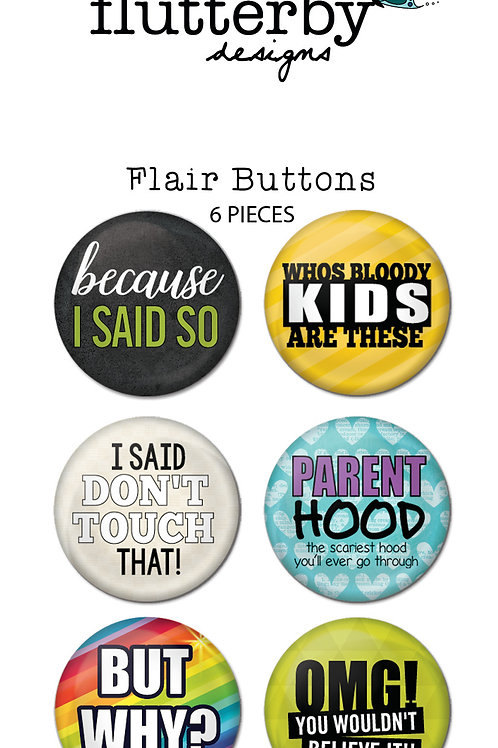 'Parent Of The Year' FLAIR BUTTONS Set 2