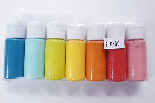 Flutter Colour Paint SMALL SET- Rainbow Set