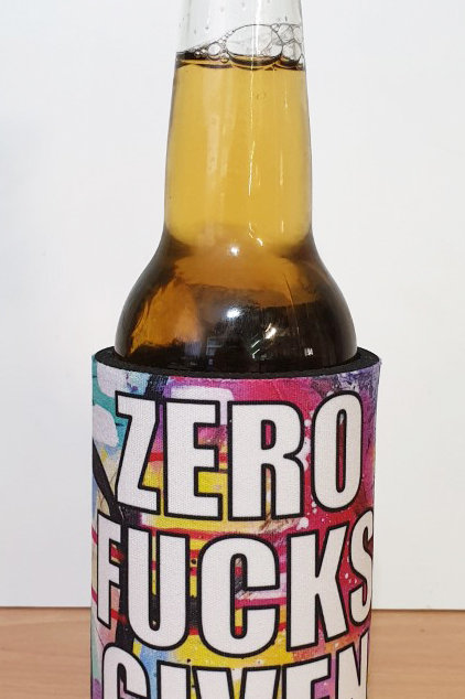 'Zero Fucks Given' Stubby Cooler