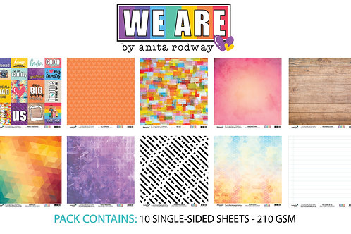 12x12 'We Are' Paper Pack